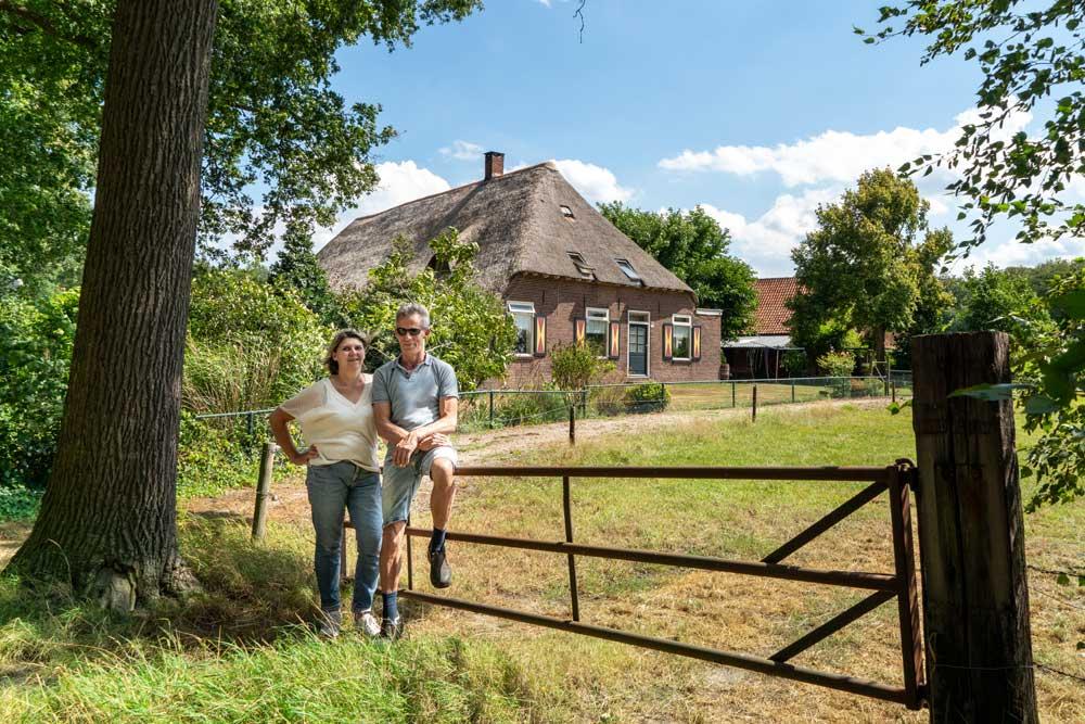 Hannie en Frans bij de Vughtse IJsboerderij